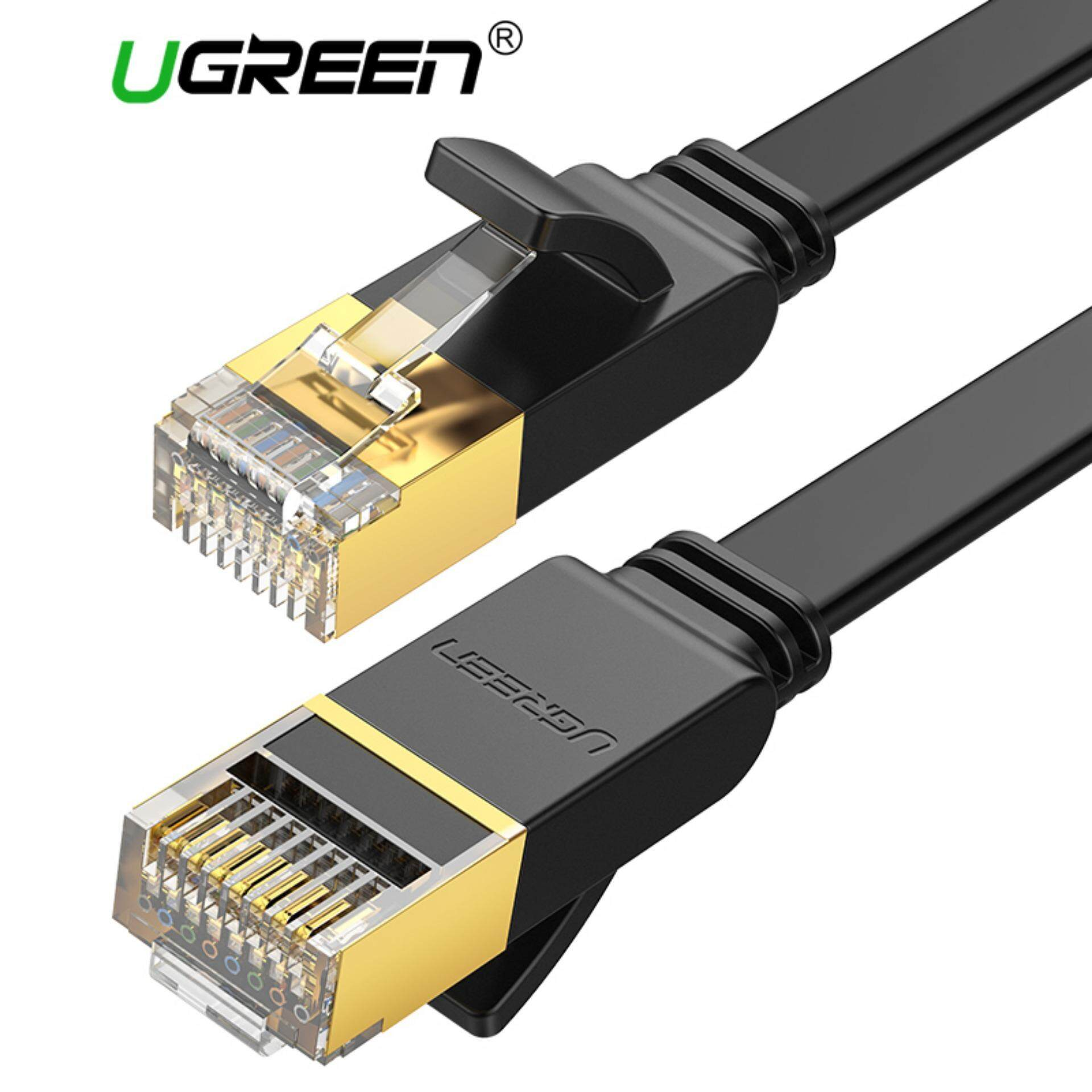 Computer Laptop Ethernet Cables For The Best Prices In Malaysia Electrical Wiring Youtube Together With Sewing Machine 2 Pin Ugreen 5 Meter Flat Cable Cat7 Rj45 Network Patch 10 Gigabit 600mhz Lan