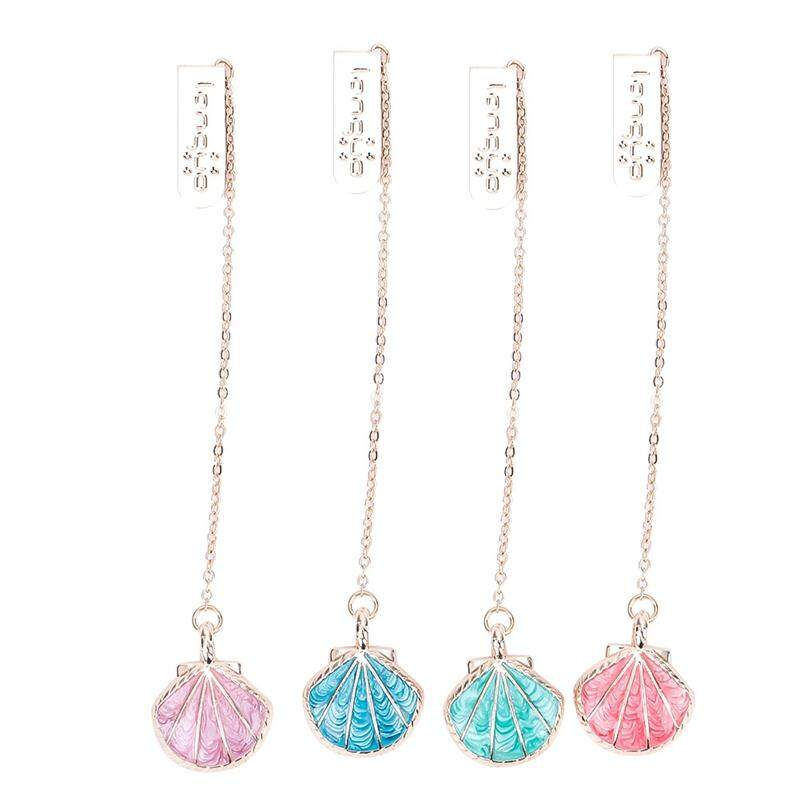 Linfang Creativity Simple Shell Pendant Long Fashion Practical Bookmarks By Linfang Store.