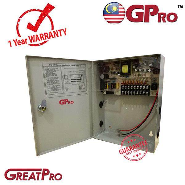 Gpro 12v 10a 9 Channel Metal Box Power Supply -Greatpro By Greatpro Trading.