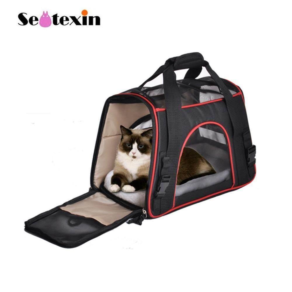 0779ff6bc6 Large Size Pet Carry Travel Bag Cat Dog Backpack Portable Mesh Bag Big Pet  High Quality