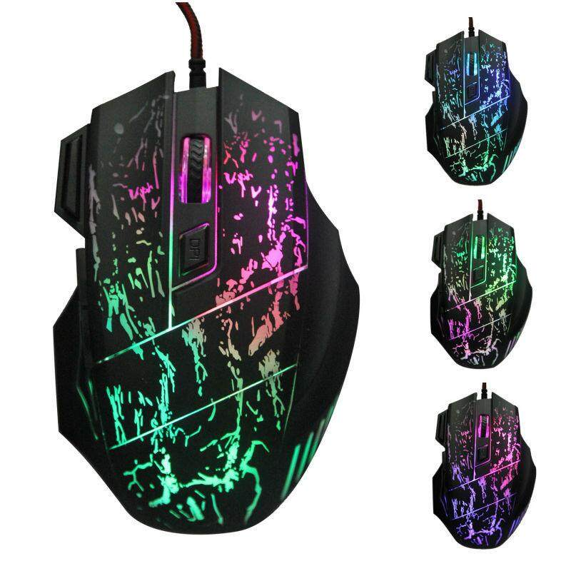 New 3200dpi With 7 Buttons Color Changing Led Optical Usb Wired Mouse Gamer Mice Gaming Mouse For Pro Gamer Pc Computer By Magic Mirror.