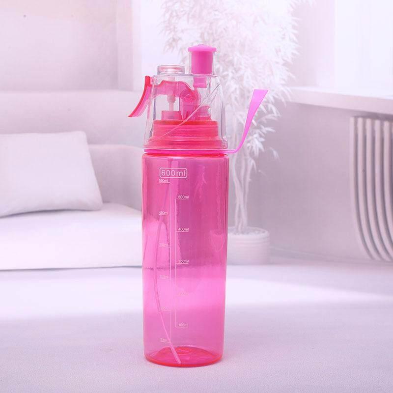 Panda Online Leak Proof 600ml Sports Spray Mist Water Bottle Cooling  Plastic Drinking Bottles For Cycling 3bd188f706