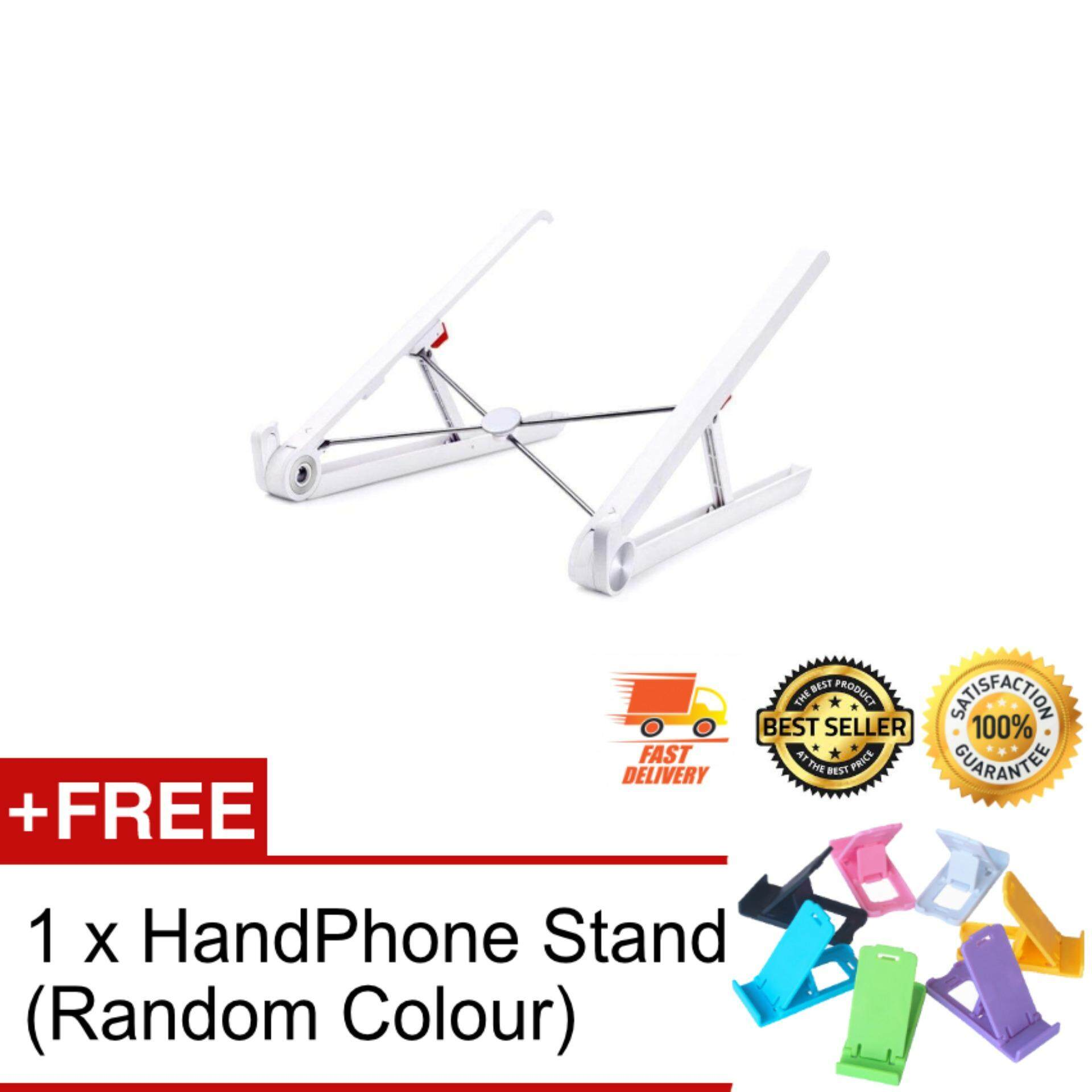 Fordable Adjustable Height Portable Notebook Holder Laptop Stand For Desk Adjustable Cooling Lightweight pact Universal Fit