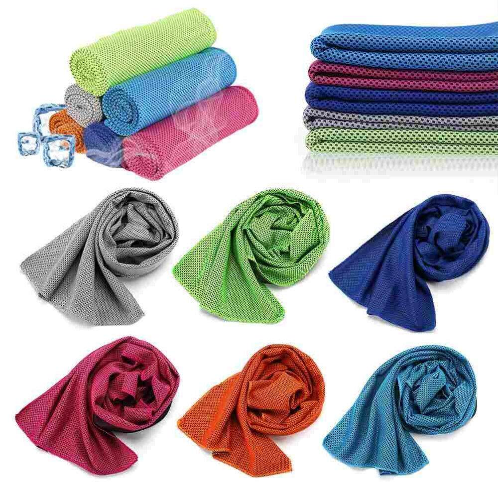 Doxiy 8pcs Outdoor Fitness Cooling Sport Towels Climbing Yoga Exercise Rapid Microfiber Fabric Quick-Dry Ice Towel Swimming Camping Blanket By Doxiy.