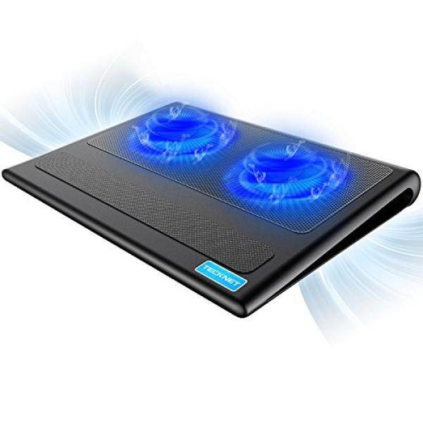 TECKNET Laptop Cooling Pad, Portable Ultra-Slim Quiet Laptop Notebook Cooler Cooling Pad Stand with 2 USB Powered Fans, Fits 12-16 Inches Malaysia