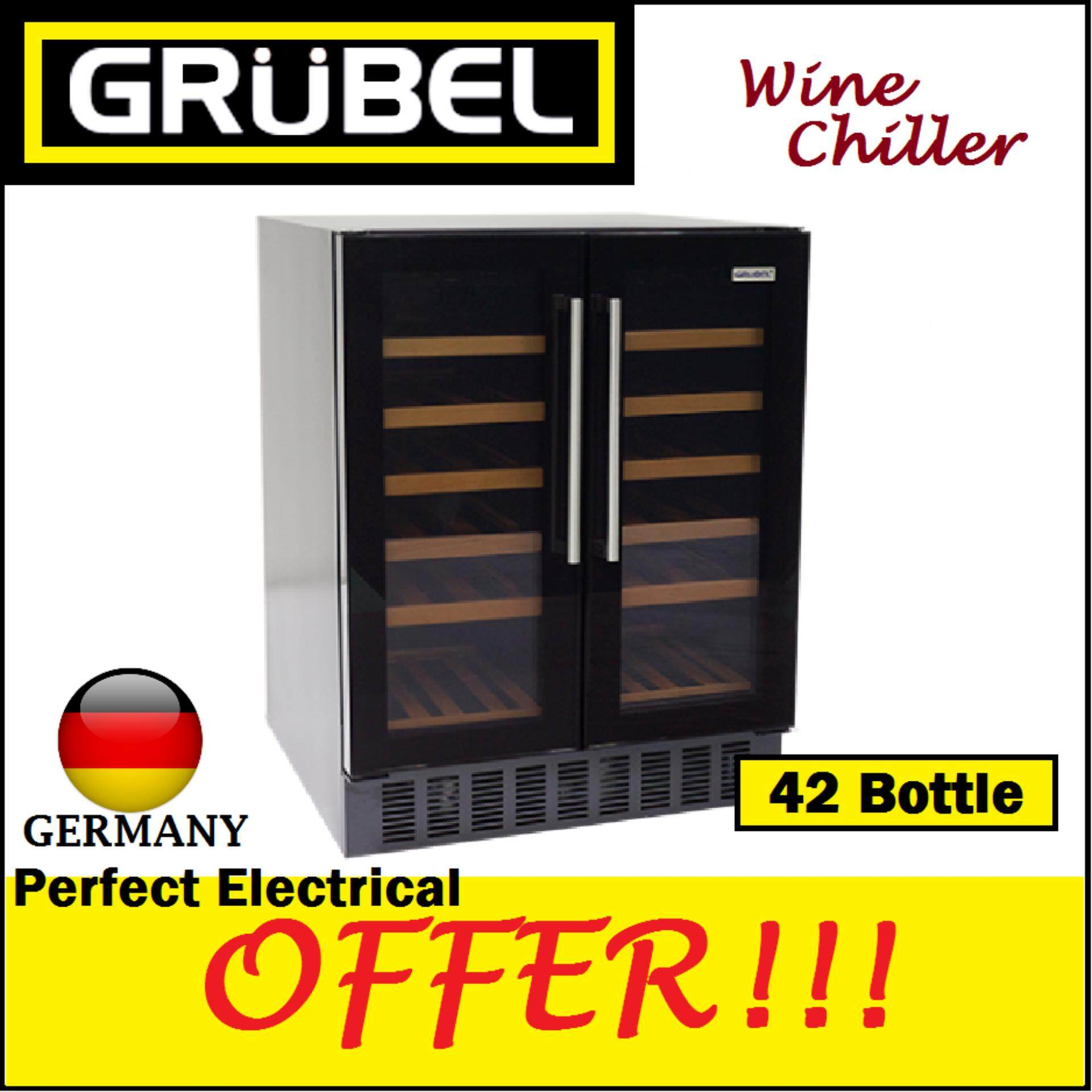 Grubel Wine Chiller Gwc-Dt42tbk - 42 Bottles By Perfect Electrical Store.