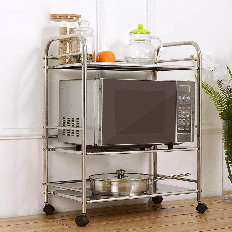 Gte 3 Layer Multi Function Storage Rack Stainless Steel Kitchen Kitchen Storage And Organization High Grade Quality Racks With Wheel Fulfilled By