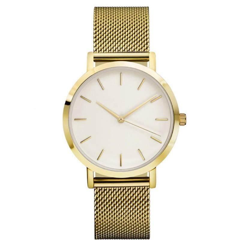 4 Colors Unisex Women Men Alloy Quartz Movement Analog Mesh Watch Wristwatch Malaysia