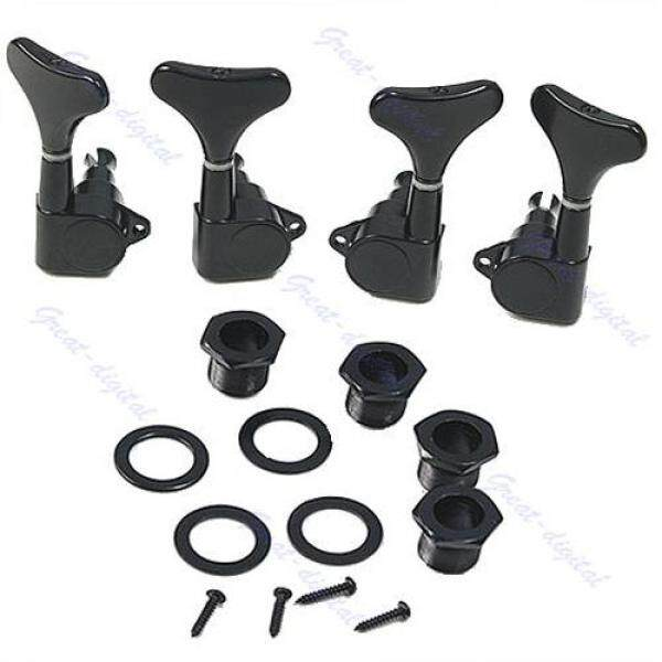 New Guitar Sealed Tuners Tuning Pegs Machine Heads 2R2L For 4 String Bass Black Malaysia