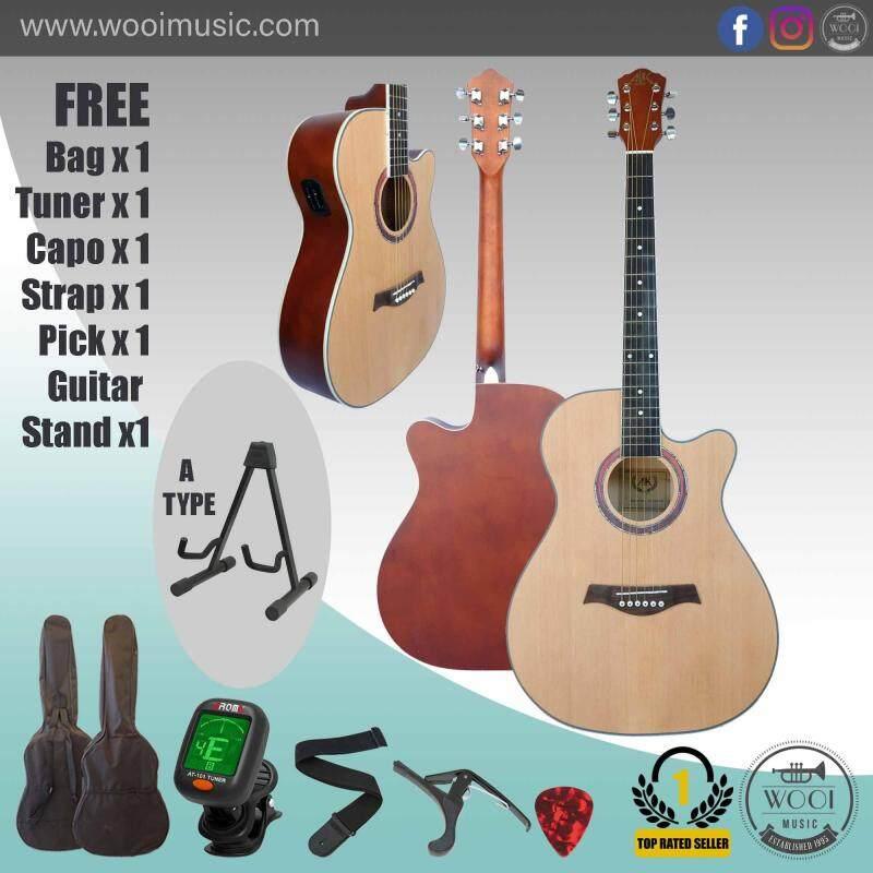AK Guitar AK220C Natural (FREE Bag, Capo, Tuner, Strap, Pick & A Frame) Malaysia