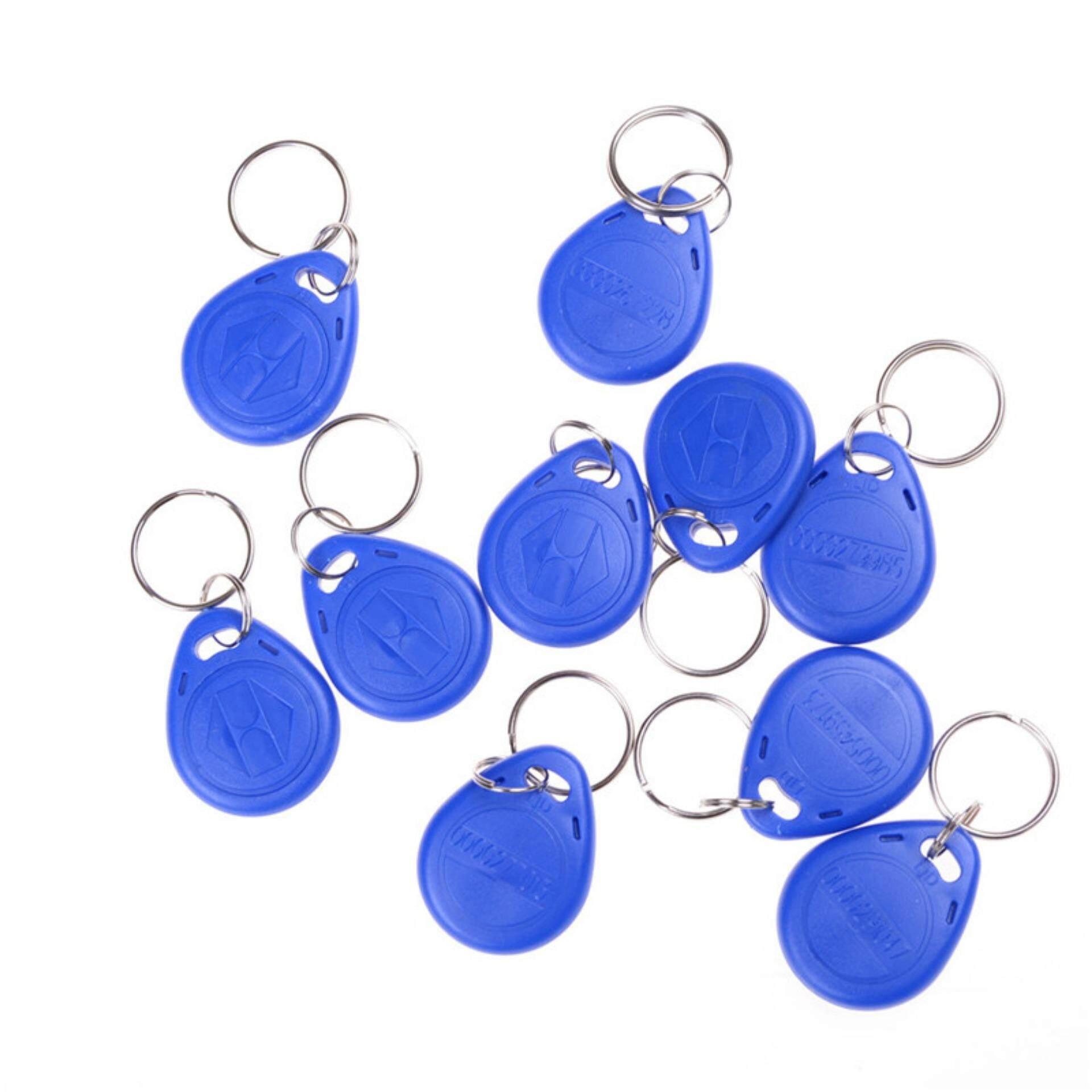 10pcs EM4305 Copy Rewritable Writable Rewrite RFID Tag Key Ring Card 125KHZ