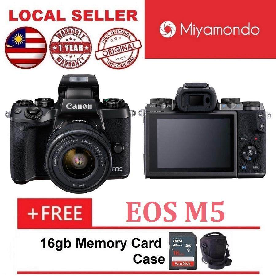 Canon Mirrorless Cameras For The Best Prices In Malaysia Eos M100 Kit 15 45mm 22mm Kamera White M5 With Lens 16gb Bag