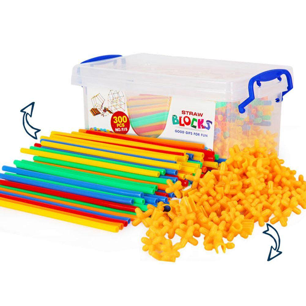 Mayler Store Straw Building Straw Building Blocks Creative Plastic Colorful Intellectual Development By Mayler Store.