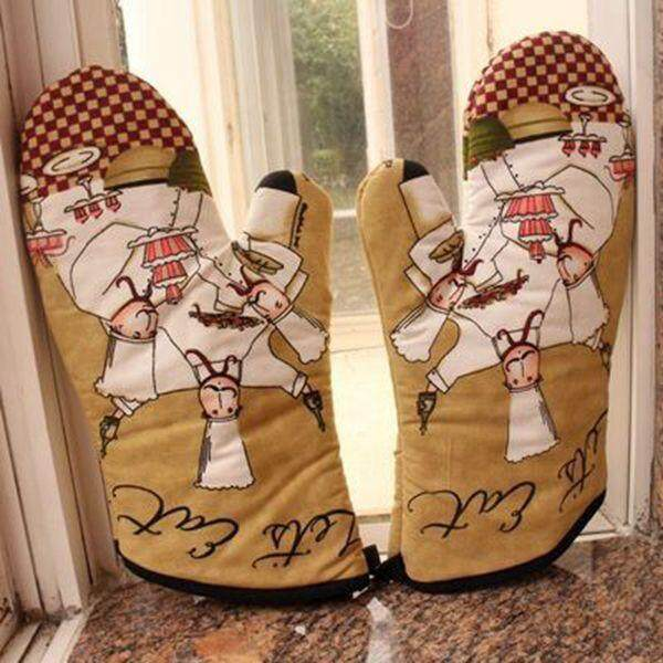 Oven Gloves for kitchen Thick and Hot Microwave Oven Gloves Insulation gloves Style 15