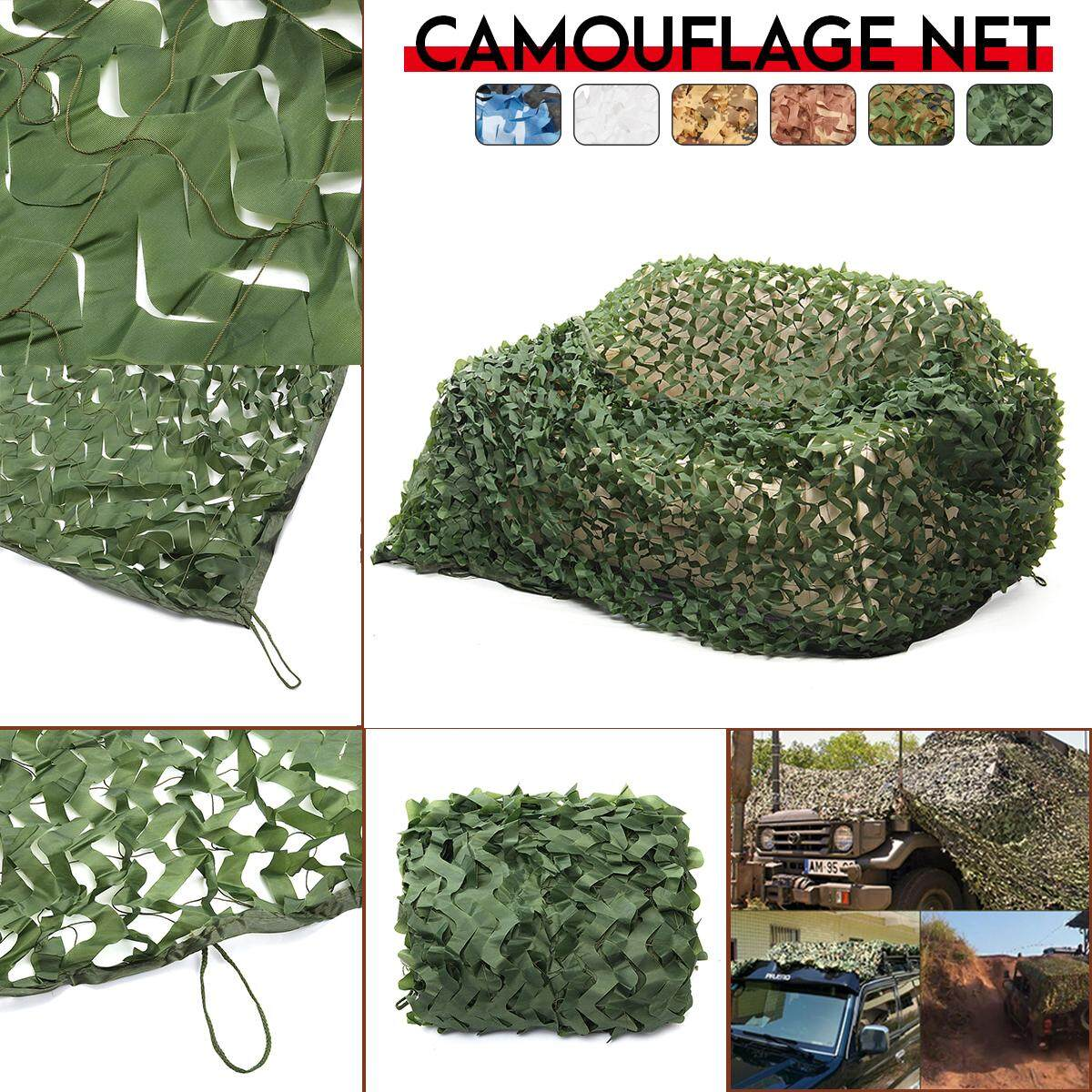 150d 120g Polyester Oxford Fabric Pet Fibre Camouflage Camo Net Netting Hunting Sun Shade Car Cover By Audew.