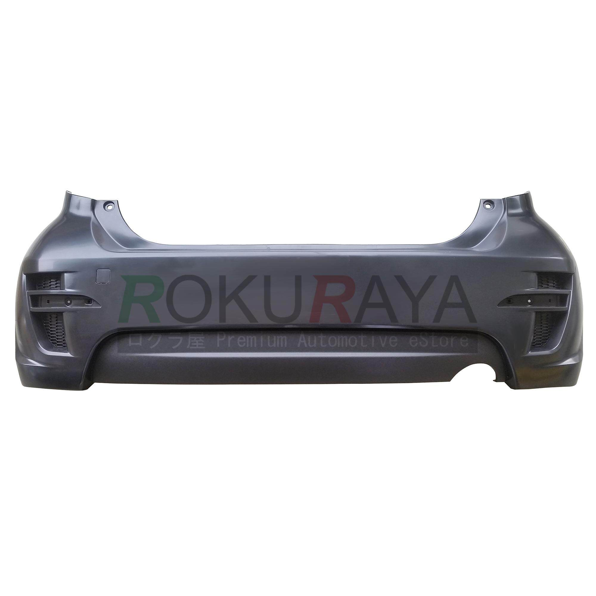 Perodua Myvi Se2 First Generation (2005-2011) Se 2008 Special Edition Rear Back Bumper Polypropylene Pp Plastic Body Part Oem Replacement Spare Part - Black By Automart Rr.
