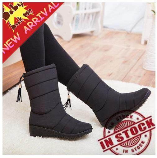 94269456b9aad TTLIFE New Arrival Winter Women Snow Boots Fashion Medium Tube Slope with  Warm Plus Velvet Boots