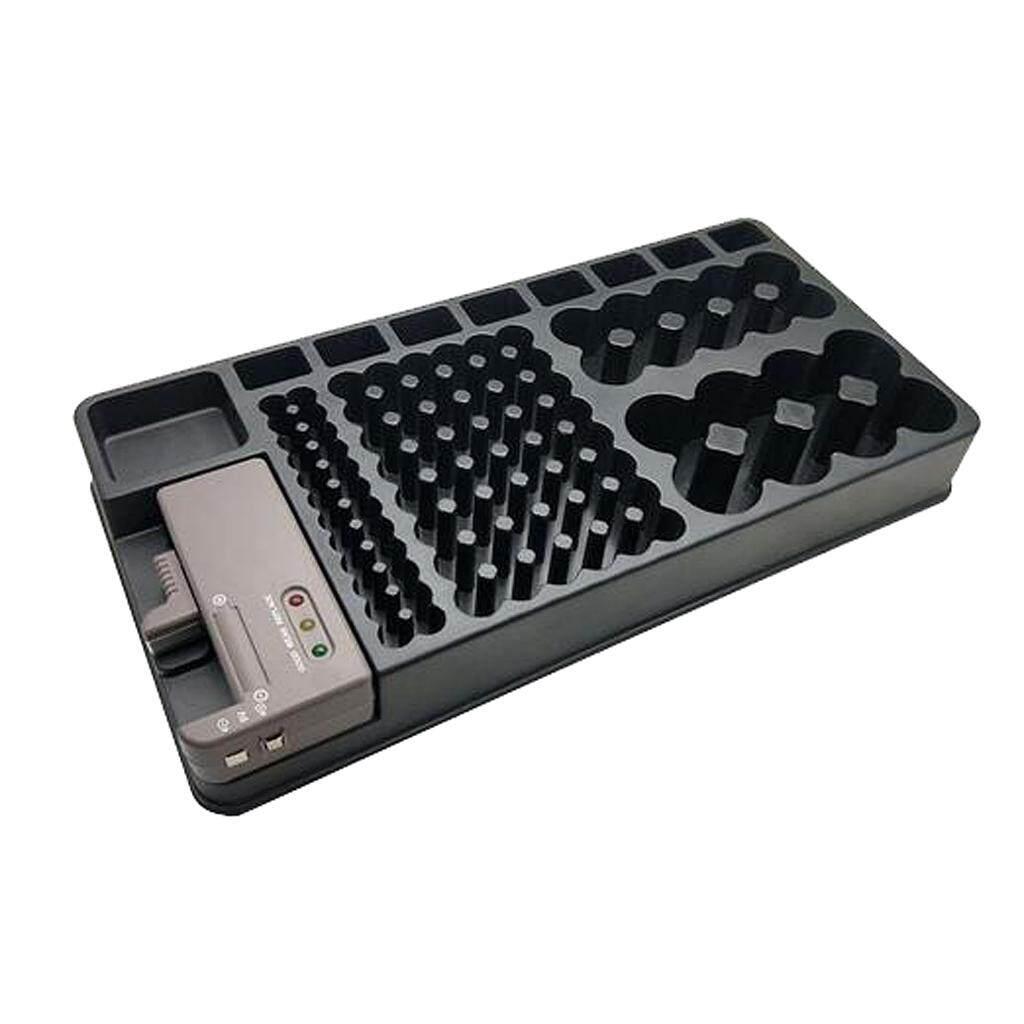MagiDeal Battery Storage Organizer Rack Power Tester Case Box AA AAA 9V 98 Holder