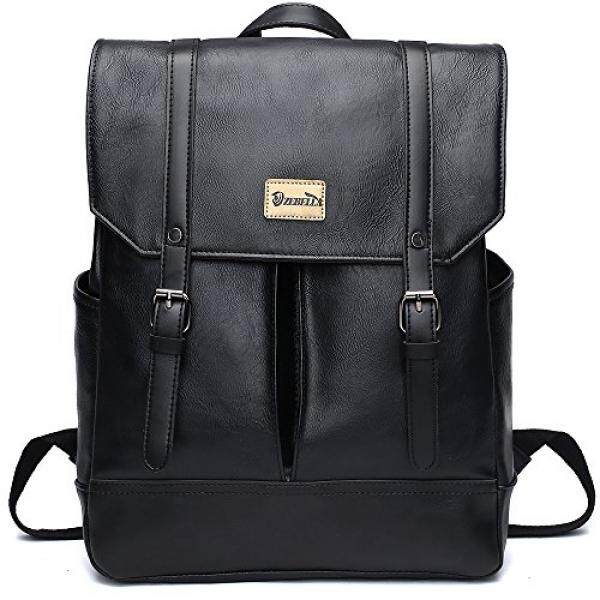Zebella Unisex Vintage PU Leather Backpack Laptop School College Bookback Malaysia