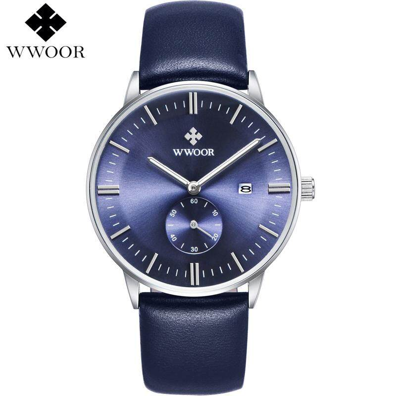 Luxury Brand Ultra thin Date Genuine Leather Men Quartz Watch Rose Gold Casual Sports Watches Men Wrist Watch Relogio Masculino Malaysia