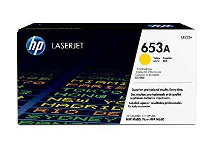 HP 653A Original Toner Cartridge - Yellow - Laser - Standard Yield ( CF322A)