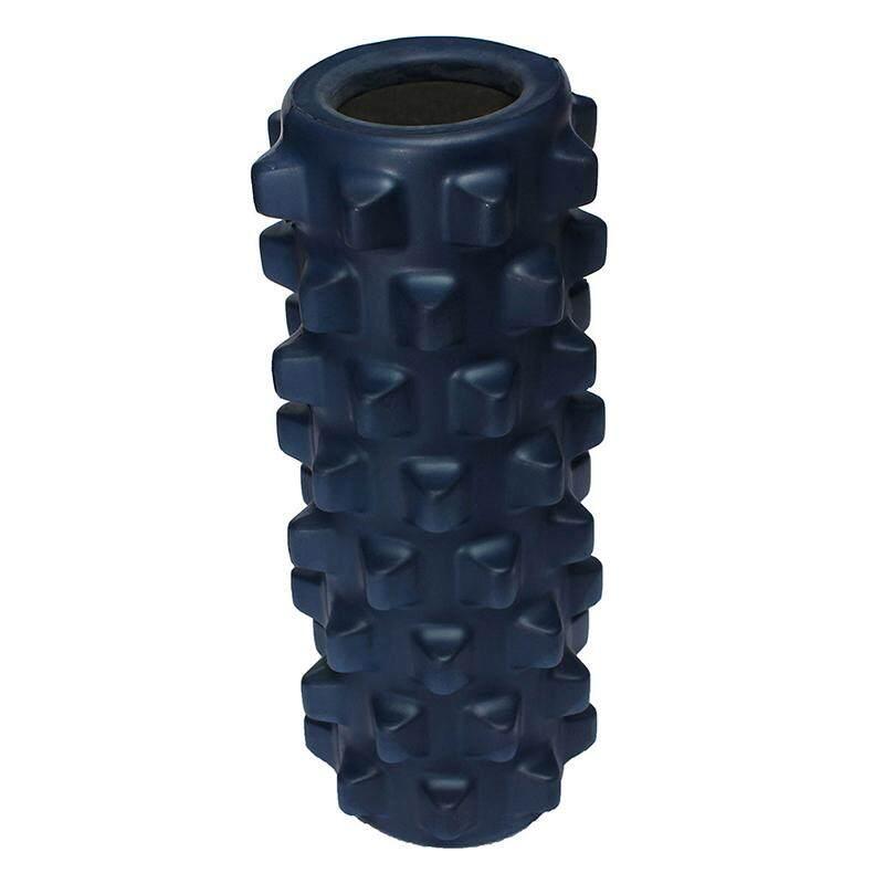32x10cm Eva Grid Foam Massage Roller Yoga Pilates Fitness Physiotherapy Rehabilitation Dark Blue By Sunshineyou.
