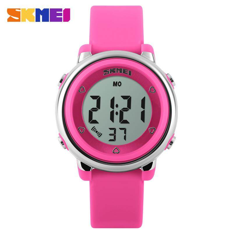 SKMEI New Fashion Kids Watch Girls Children Watches Cute Alarm LED Digital Waterproof Wristwatches Jam tangan