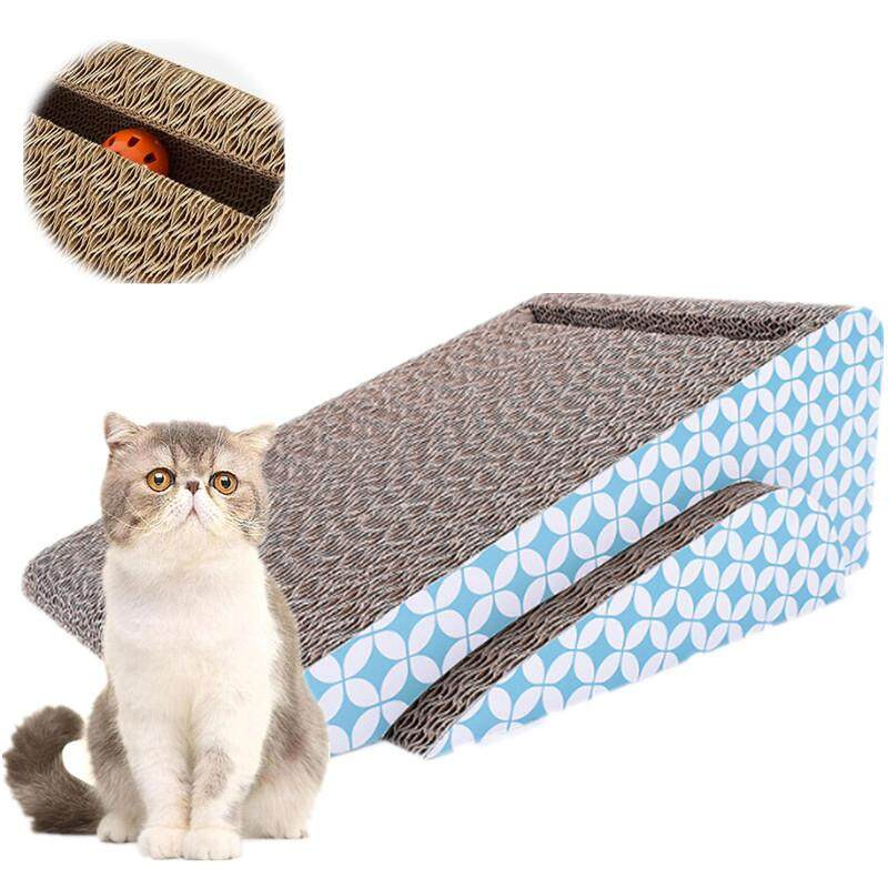 Kitten Cat Incline Scratcher Cardboard Board With Jingle Ball By P A F Pet Store.