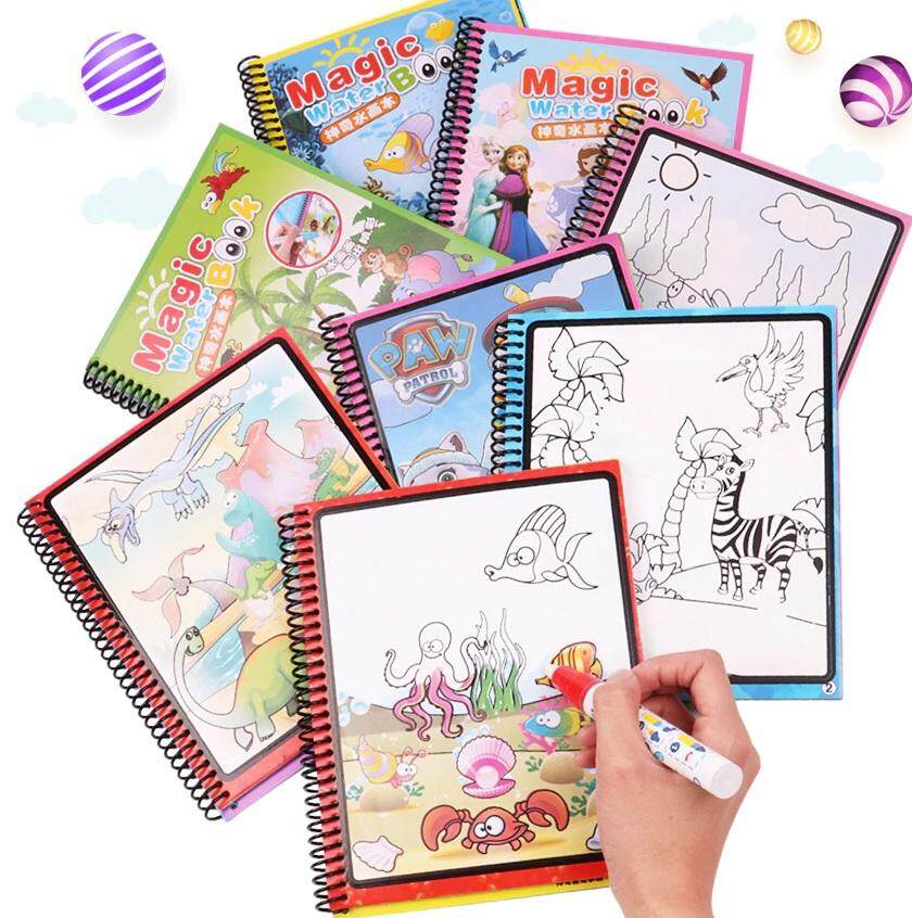 Baby Care Magic Water Drawing Colouring Book 8 Pages Doddle For Kids And  Toddlers - 6034 toys for girls