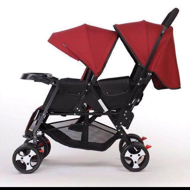 Baby Stroller Twin Stroller Double Stroller For 2 Kids Tandem Stroller For Two Kids Stroller Baby Kembar Stroller Baby Dua Orang Stroller Kembar Jimat Space Stroller Bayi Kembar Stroller Untuk Dua Orang Stroller Anak Kembar (maroon) By Littlebuddiezhouse.
