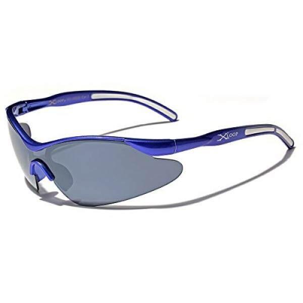 a5b80967a5 Kids AGE 3-12 Sports Half Frame Cycling Baseball Sport Sunglasses - Blue