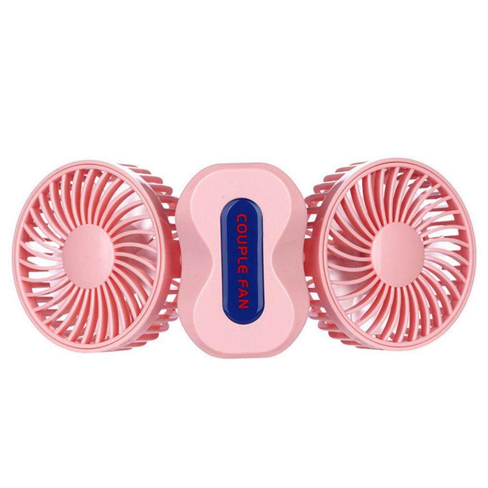 Oem Creative Couple Mini Fan Usb Charging Fan Dual Motor Folding Belt Night Light Usb Cooling Fan By Kacoo.
