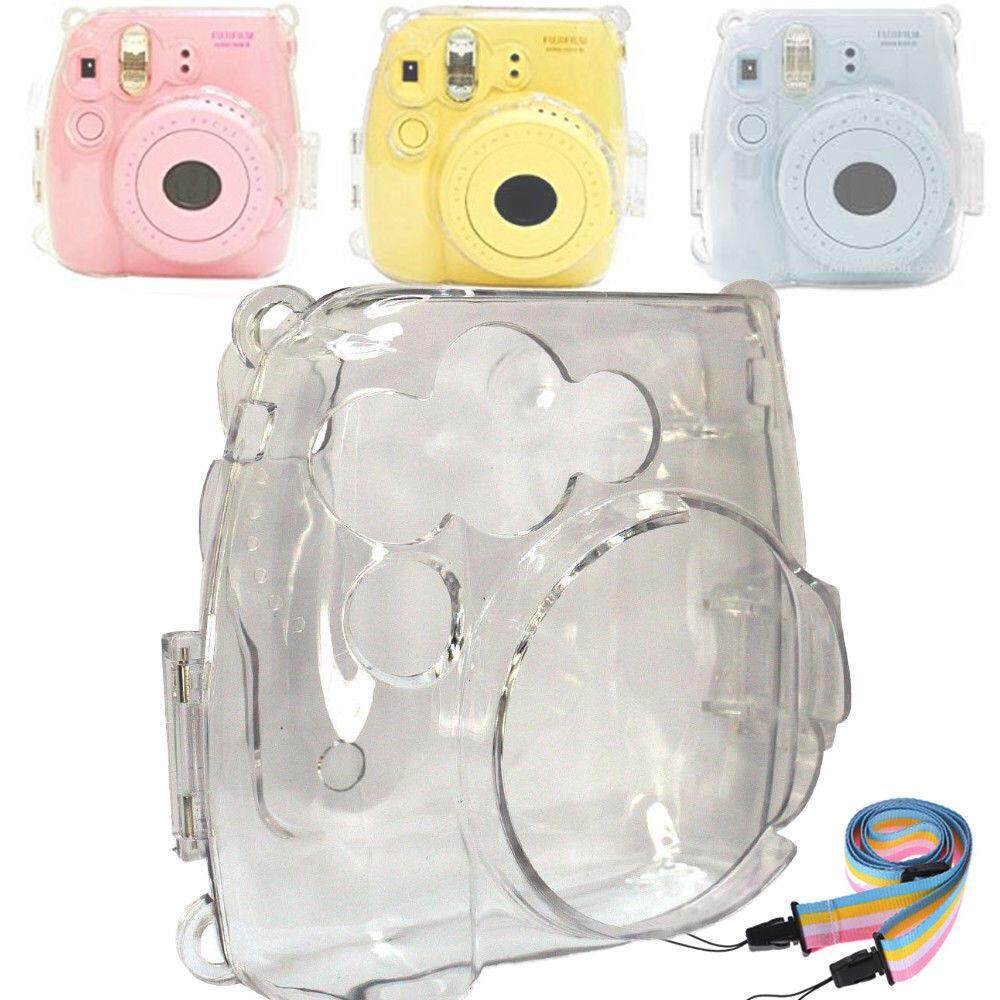 Portable Protective Case Accessory Cover Plastic Storage Bag With Removable Adjustable Shoulder Strap For Fujifilm Instax Mini 9 8 8+ Model Instant Cameras Clear By Misuta.