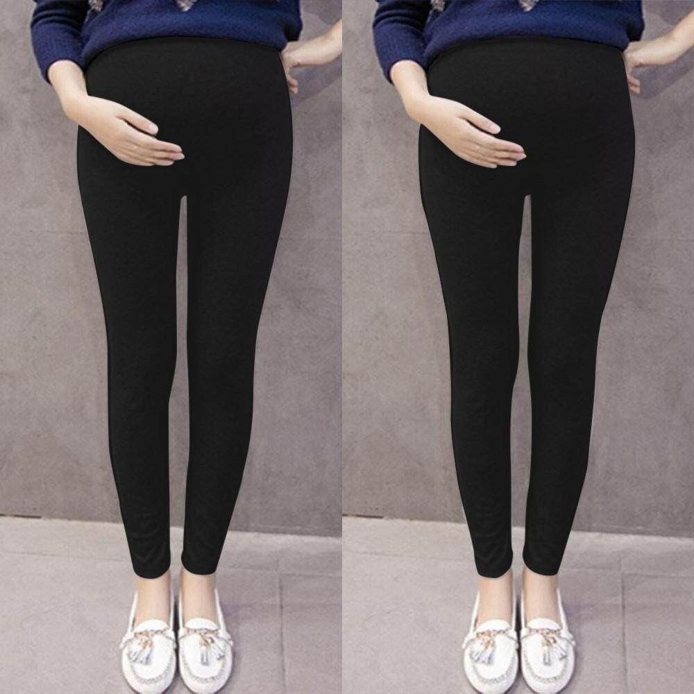 Foctroes Pregnant Womens Pants Solid Color And Thin Maternity Pregnancy Trousers By Foctroes.