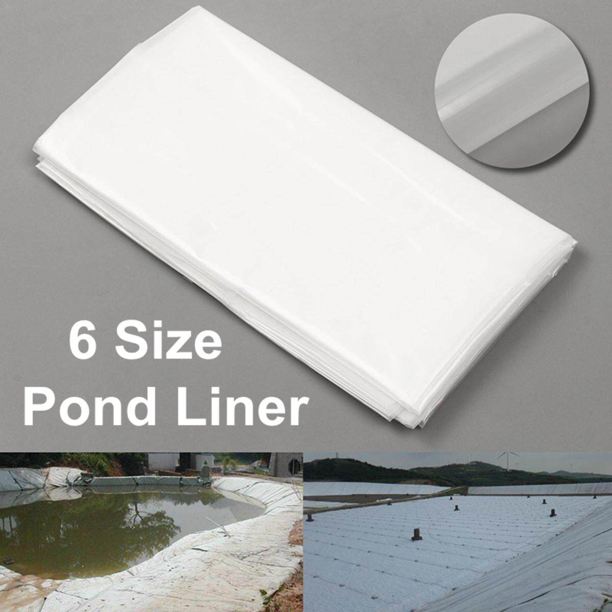 2m/6.5ft White Fish Pond Liner Garden Pool HDPE Membrane Reinforced Landscaping # 2*7m