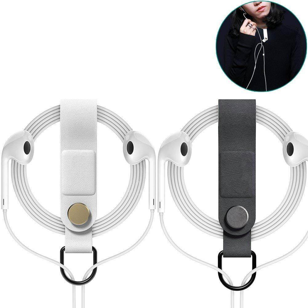 WINGOFFLY 2PCS Multifunctional Earphone Cable Wrap Winder Magnetic Cord Organizer Manager