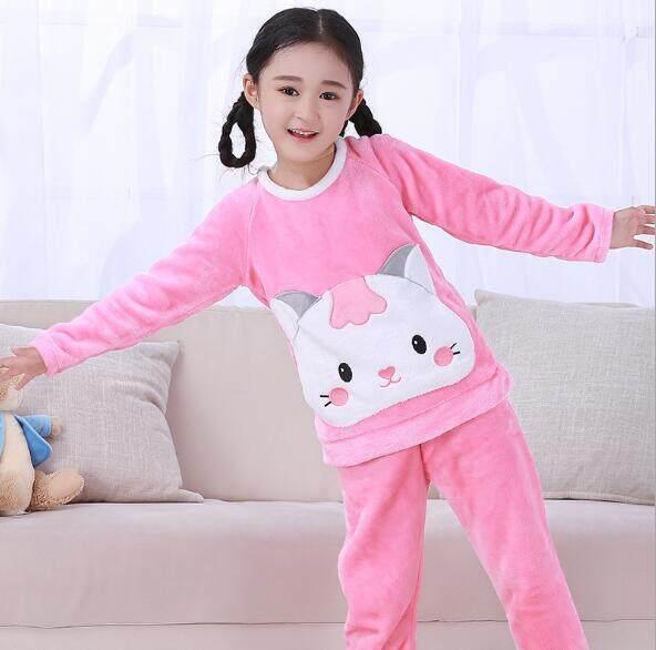 Toddler Baby Boys Girls Kids Bathrobe Cartoon Dinosaur Hooded Towel Pajamas L