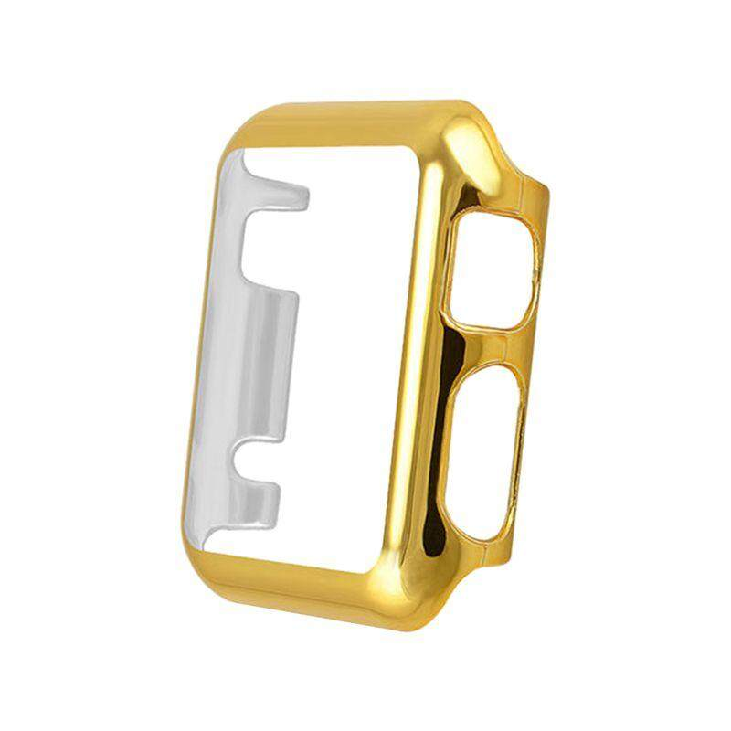 Thin Metal Plated Pc Hard Protective Case Cover Gold For Apple Watch Iwatch 42mm By Sunshineyou.
