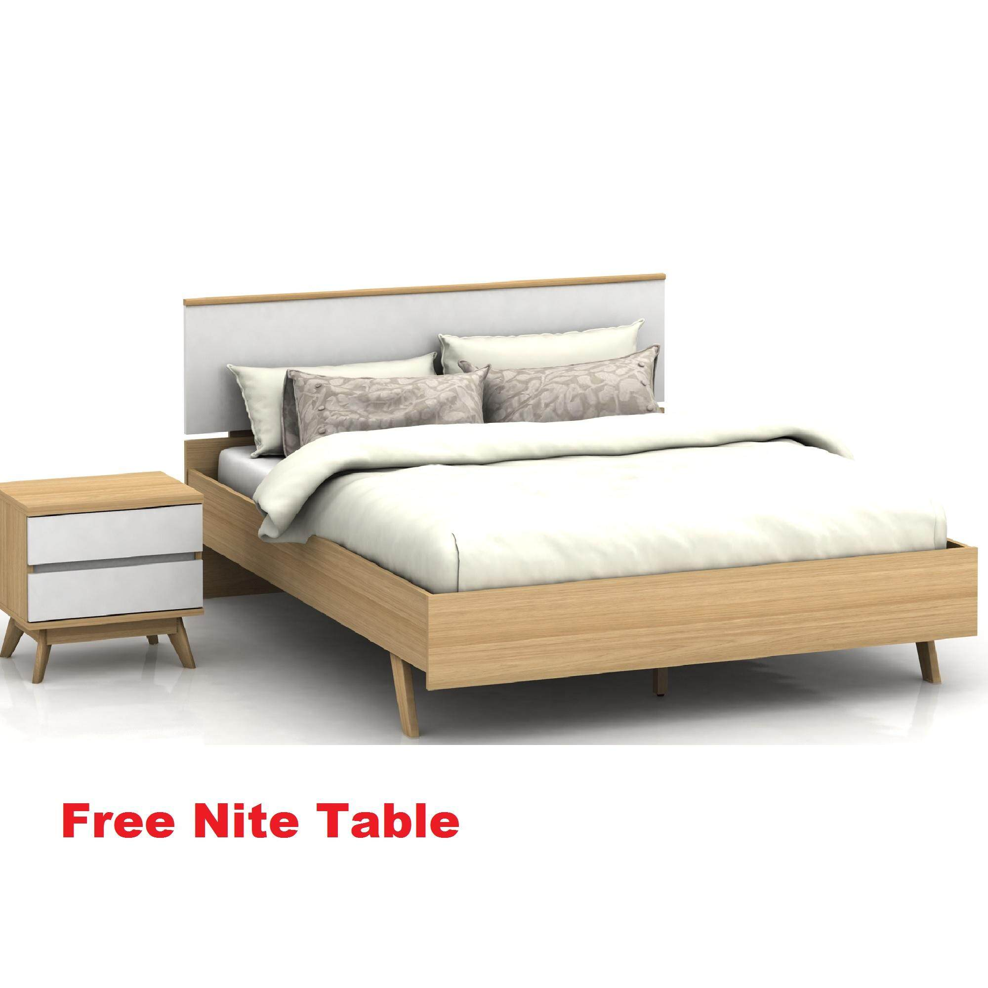 B162 Selena Bed With Nite Table By Detrend Marketing Online.