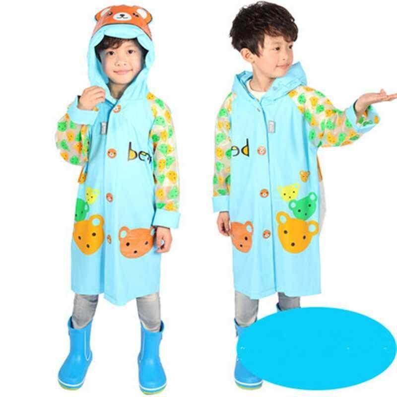 Waterproof Kids Boys Girls Cute Raincoat Kindergarten Children Cartoon Outdoor Tasteless Rain Coat Without Rainshoes A002308-2312 By Xinyuan Store.