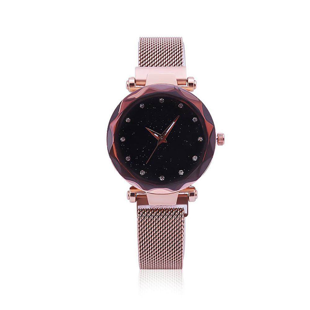 Buyinbulk Fashion Ladies Watches Magnetic Mesh Band Starry Sky Dial Simulated Diamond Analogue Quartz Wrist Watches By Buyinbulk.