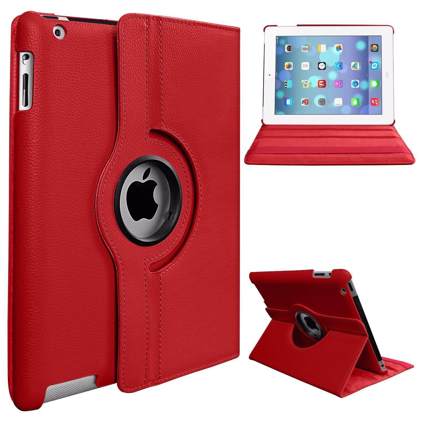 "360 Rotation PU Leather Smart Stand Case Cover for Apple iPad 9.7"" 2017 Version Tablet"