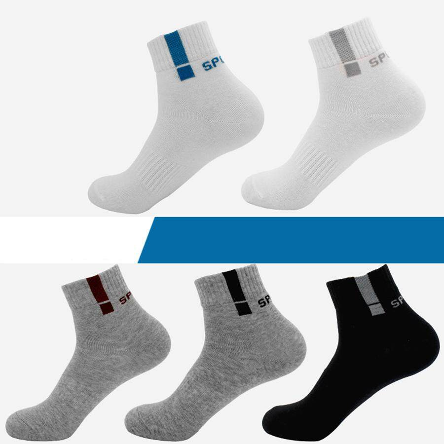af7df380261 Men s 5 Pack Solid Cotton Business Dress Socks Black Wear-resistant Trouser  Casual Crew Socks