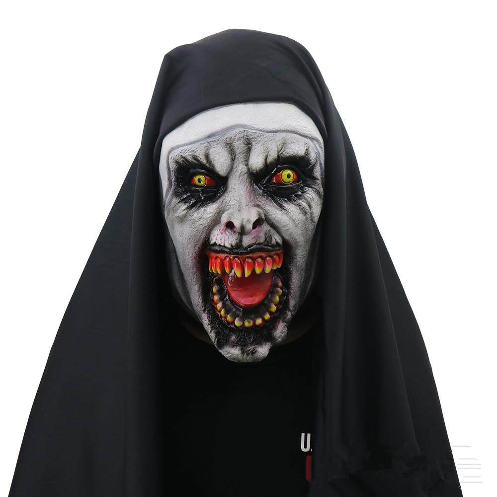 Spiritual 2 Nun Mask Halloween Horror Scary Female Ghost Face Tidy Party Supplies By Oriental Home.