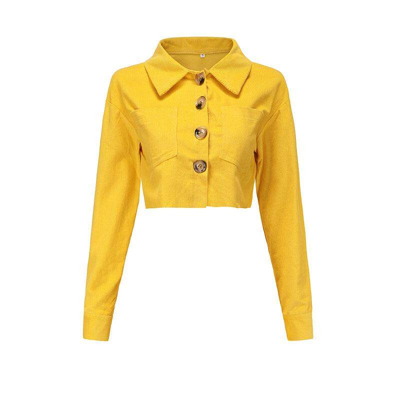 Lightnice Women Zipper Jackets Crop Tops Turn Down Collar Long Sleeve Coat Outwear By Lightnice.