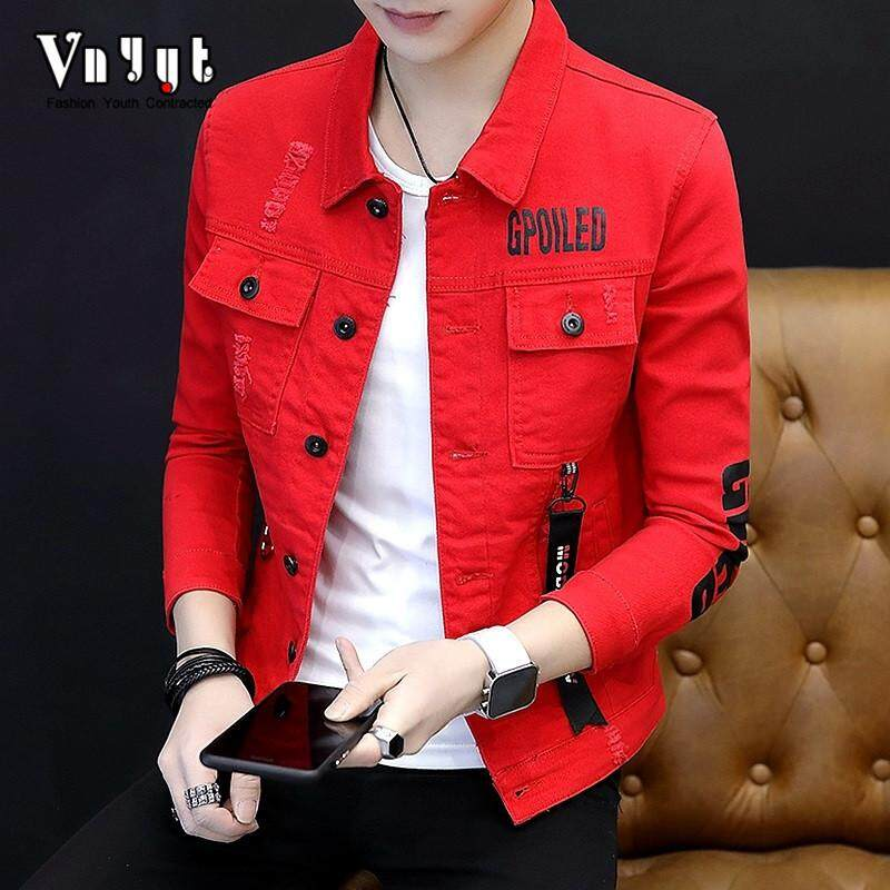f617ecb54 (fast Delivery, Good Quality) New Slim Men's Denim Jacket, Casual Short  Jacket