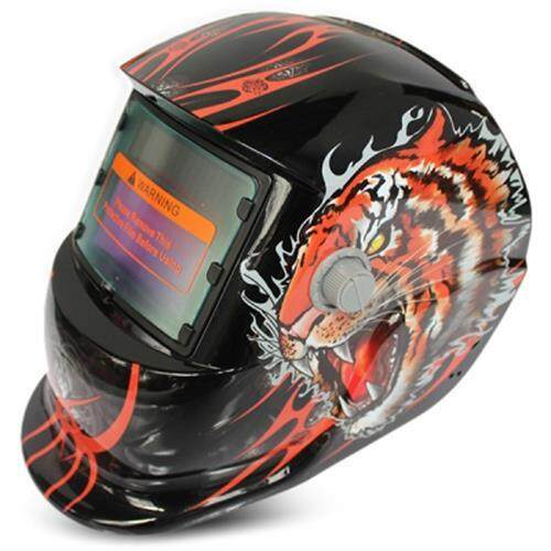 SOLAR ENERGY AUTOMATIC CHANGEABLE LIGHT ELECTRIC WELDING PROTECTIVE HELMET WITH ANIMAL PATTERN (GOLDEN)