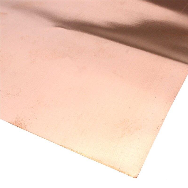 99.9/% Pure Copper Cu Metal Sheet Foil 0.1x200x500MM For Handicraft