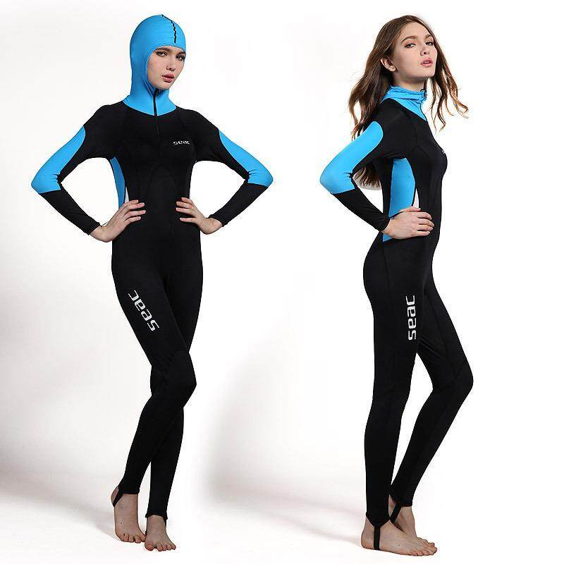 HISEA Women 0.5mm Wetsuits Swimwears Diving Suits Long Sleeves Surfing Rash  Guards Snorkel Swimsuit Snorkeling 057da7bdb
