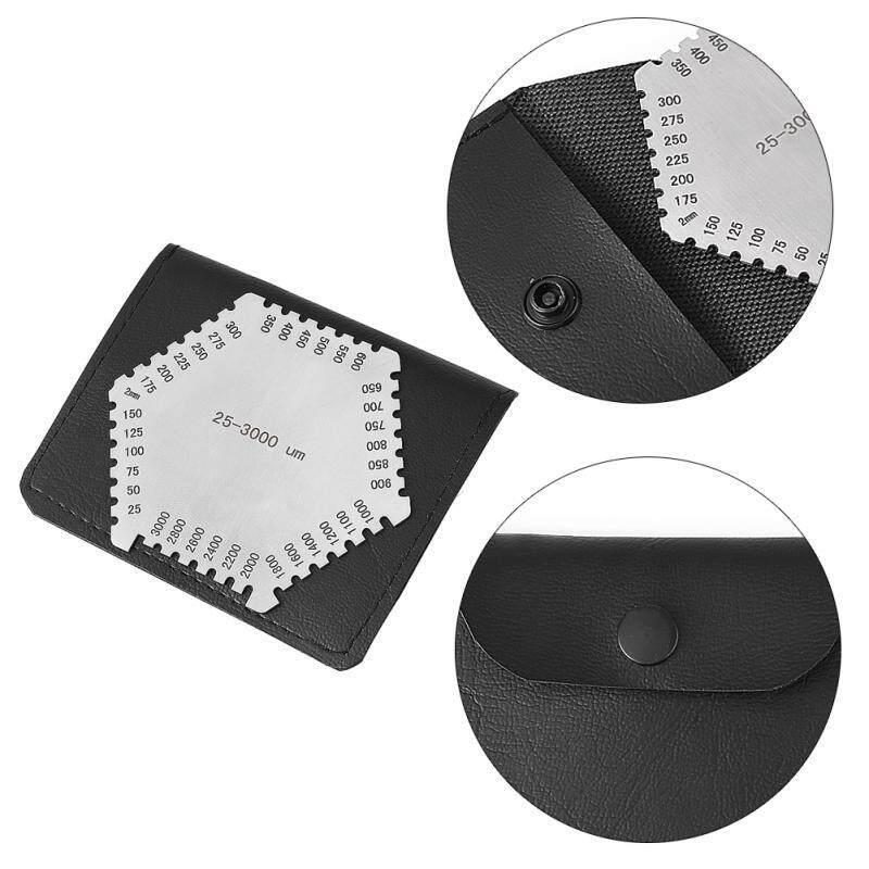 Betes Durable Welding Gauge Wet Film Comb 25-3000um Hexagonal Stainless Steel Elcometer